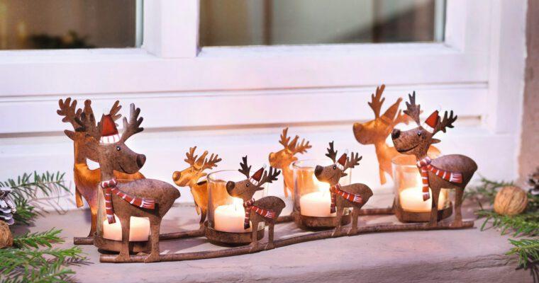 Charmante Lichtfiguren als stilvolle Winterdekoration