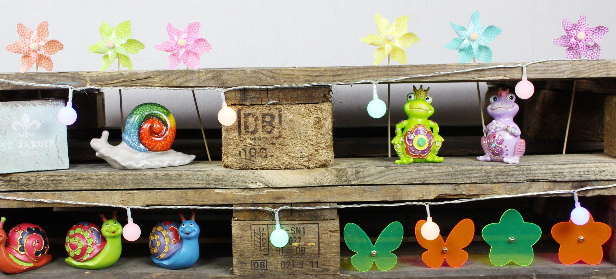 Deko für draußen: farbenfrohe Ideen für gute Laune