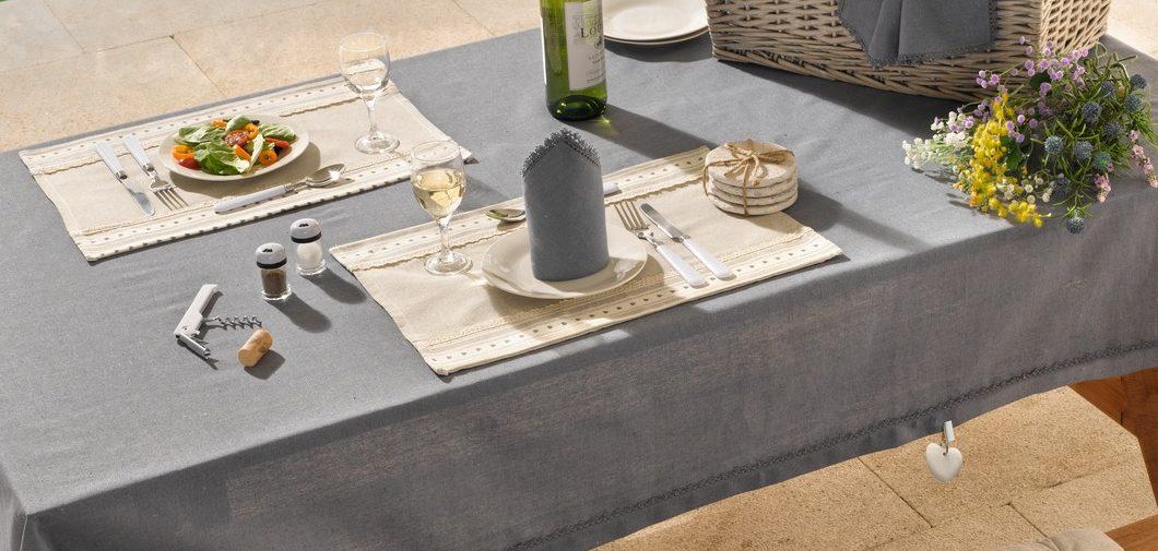 Outdoor-Tischwäsche: Tischdecken für Garten und Balkon