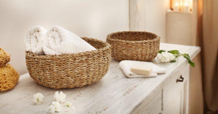 Ordnung und Accessoires für Badezimmer wie im Urlaub