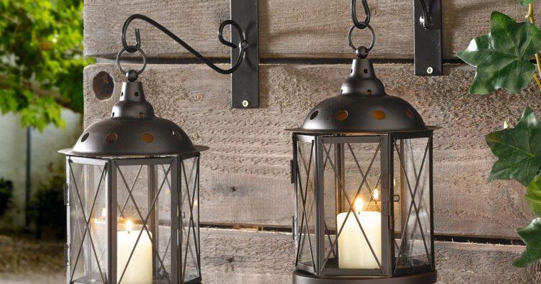 Wandhalter und Bodenstäbe für Laternen und Lampions