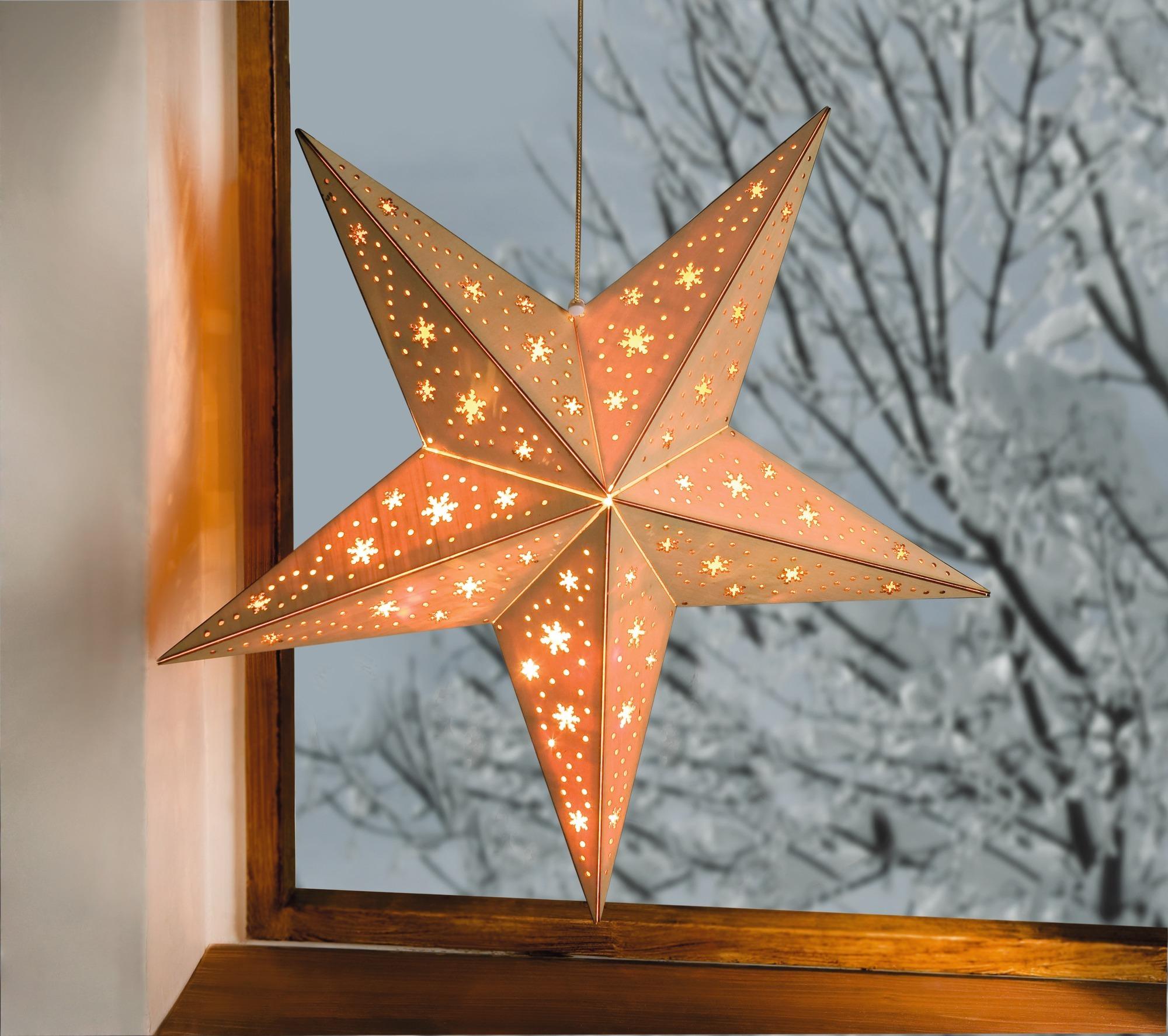 Weihnachtsstern am Fenster