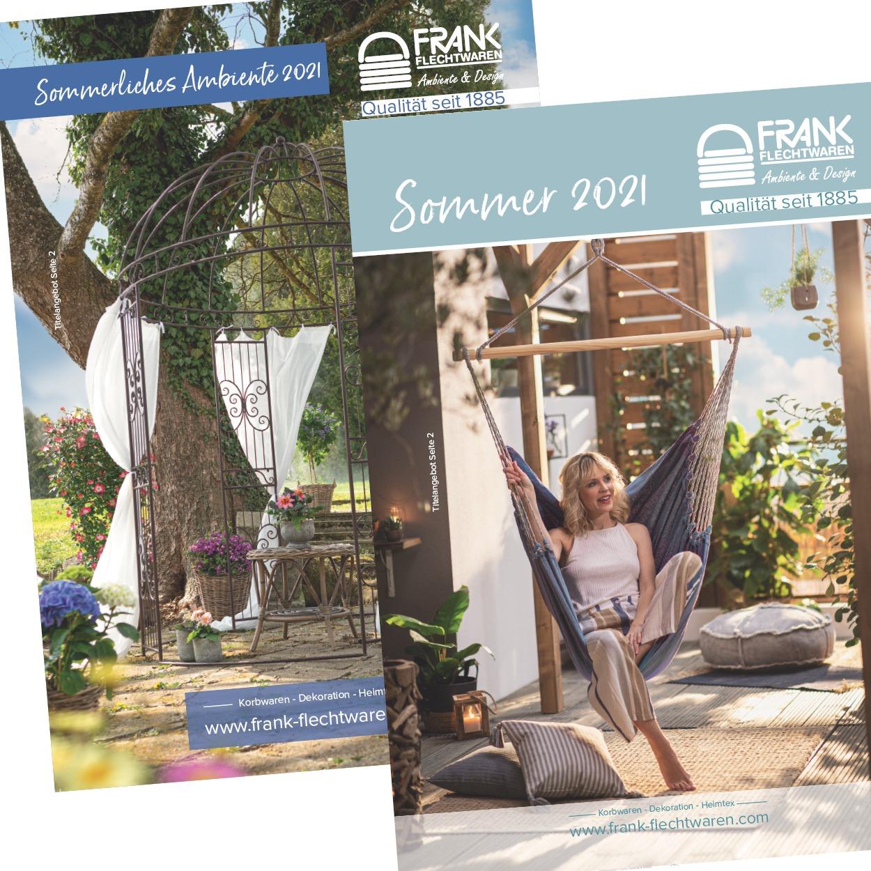 Unsere Kataloge Sommer 2021 und Sommerliches Ambiente sind ab sofort erhältlich